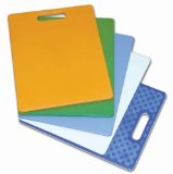 Architec The Gripper 11-by-14-Inch Non-Slip Cutting Board, Green/Light Green